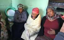 The family of the eight people who died in a Khayelitsha shack fire are pictured on 8 May 2018. Picture: Lauren Isaacs/EWN.