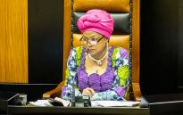 Speaker Baleka Mbete in Parliament during a question and answer session by Deputy President Cyril Ramaphosa on 19 November 2014. Picture: Aletta Harrison/EWN.