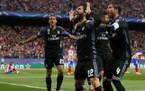 Real Madrid players celebrate their victory against Atletico Madrid after reaching the finals of the Uefa Champions League on 11 May 2017. Picture: Facebook.