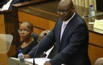 Gauteng Education MEC Panyaza Lesufi delivering his department's 2017/18 budget speech in the Gauteng Legislature. Picture: Twitter/@GautengProvince.