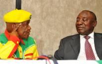 Former Lesotho Prime Minister Thomas Thabane and SA's Deputy President Cyril Ramaphsa. Picture: GCIS.