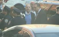 Harvey Weinstein surrenders to police. Picture: Youtube screengrab.