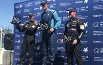 Gennaro Bonafede (C), Michael Stephen (L) and Simon Moss (R) after winning the first round of the Sasol GTC in Cape Town. Picture: Kevin Brandt/EWN.