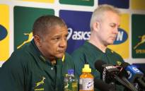 Springbok coach Allister Coetzee addressed the media ahead of the last Rugby Championship match between the Springboks and New Zealand. Photo: Bertram Malgas
