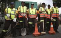 One of the all-women road repair groups. Picture: Cindy Archillies/EWN