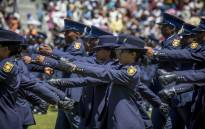 FILE: SAPS new recruits march on parade at the Passing Out ceremony in Philippi, Cape Town. Picture: Thomas Holder/EWN.