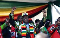 FILE: Zimbabwe's President Emmerson Mnangagwa at a Zanu-PF election rally. Picture: AFP.