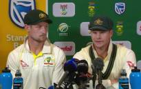 Australia's Steve Smith and Cameron Bancroft admit to 'planned' ball tampering. Picture: Twitter/@CricketAus