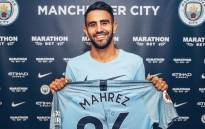 New Manchester City recruit Riyad Mahrez. Picture: @ManCity/Twitter