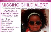 Asaza Sauls, who was last seen on 27 August 2017 in the Kraaifontein area, has now been found. Picture: Facebook.com