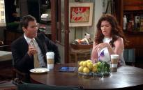 Will and Grace stars, Deborah Messing and Eric McCormack. Picture: YouTube screengrab.