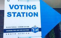 FILE: IEC voting station signage. Picture: Ian Bredenkamp/EWN.