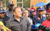The COO of Optimum coal mine, George van der Merwe, responds to workers' concerns over salary payments on 22 February 2018. Picture: Pelane Phakgadi/EWN.