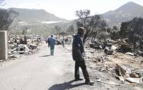 Thousands of people have been left homeless following a fire in Mandela Park in Hout Bay. Picture: Cindy Archillies/EWN.