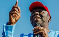 A picture taken on 2 September 2017 shows late Zimbabwean opposition leader Morgan Tsvangirai addressing a crowd during his last opposition rally at White City Stadium in Bulawayo. Picture: AFP.