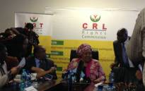 FILE: CRL Chair Thoko Mkhwanazi-Xaluva. Picture: Masego Rahlaga/EWN.