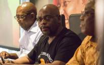 FILE: Cosatu's President Sdumo Dlamini addresses the media at Cosatu house in Braamfontein on the Trade Union Federation's call for President Jacob Zuma to step down on 4 April 2017. Picture: Reinart Toerien/EWN
