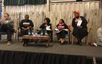 Human Settlements Minister Lindiwe Sisulu(C) joined panelists during the Digital World Impact conference in Langa on 7 September 2017. Picture: Monique Mortlock/EWN