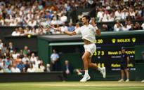 Novak Djokovic in action against Rafael Nadal in the Wimbledon semifinal on 14 July 2018. Picture: Twitter@Wimbledon