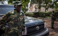 The head of the M23 rebel military forces, Brigadier-General Sultani Makenga leans on a car on November 25, 2012 on the grounds of a military residence in Goma in the east of the Democratic Republic of the Congo. Picture: AFP.