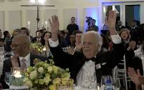 Advocate George Bizos celebrates his 90th birthday at the Polo Lounge, Inanda Club, Johannesburg. Picture: Louise McAuliffe/EWN
