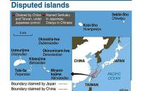 A graphic showing the disputed Senkaku/Diaoyu islands between Japan and China. Picture: AFP.
