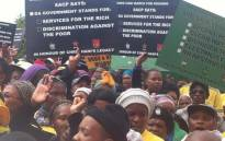 FILE: African National Congress (ANC) supporters in the Western Cape marched on the Provincial Legislature demanding better service delivery in poorer areas. Picture: EWN