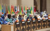 The African head of states and government gathering in Mauritius for the African Union summit. Picture: @_AfricanUnion/Twitter.