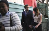 Henri Van Breda and his girlfriend Danielle Janse Van Rensburg at court. Picture: Cindy Archillies/EWN