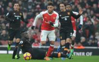 Arsenal's Alex Oxlade-Chamberlain runs after the ball during their game against Hull City. Picture: Twitter/@Arsenal.