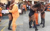 FILE: An image circulated on social media of the prison strippers at the Johannesburg Correctional Centre. Picture: Twitter