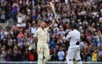 FILE: England's Ben Stokes raises his bat after scoring a century. Picture: Twitter/@englandcricket