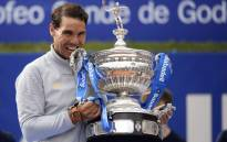 Spain's Rafael Nadal poses with his trophy after winning the Barcelona Open ATP tournament final tennis match in Barcelona on April 29, 2018. Picture: AFP.