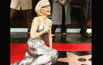 Actress Gillian Anderson received a star on the Hollywood Walk of Fame on Monday 8 January 2018. Picture: Twitter/@GillianA