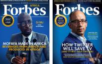 FILE: DJ Sbu's fabricated Forbes Africa cover. Picture: Twitter.