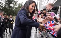 Meghan Markle greeting people during International Women's Day celebrations in Birmingham. Picture: @KensingtonRoyal/Twitter.