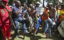 Taxi drivers mobilised under the banner of the National Taxi Alliance and marched through the streets of Pretoria calling for the removal of Transport Minister Joe Maswanganyi. Picture: Ihsaan Haffejee/EWN