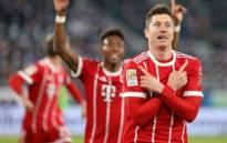 Bayern Munich's Robert Lewandowski celebrates scoring their second goal. Picture: Twitter