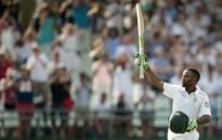 FILE: South African batsman Temba Bavuma celebrates a milestone. Picture: AFP