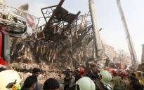 FILE: The steel structre of Iran's oldest high-rise, the 17-storey Plasco building, is seen after the collapse of the building in downtown Tehran on January 19, 2017. Picture: AFP.