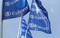 Eskom flags. Picture: EWN.