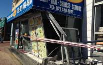 Driver crashes into Greenpoint restaurant. Picture: Rahima Essop/EWN.