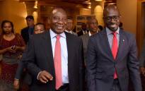 Deputy President Cyril Ramaphosa flanked by Finance Minister Malusi Gigaba at the breakfast planning session ahead of South Africa's participation in the World Economic Forum.