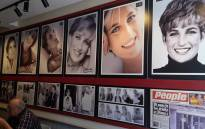 Princess Diana's picture insise Cafe Diana in London. Picture: facebook.com/Cafe Diana.