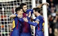 Phil Coutinho, Luis Suarez and Lionel Messi. Picture: Barcelona @FCBarcelona.