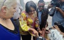 Cape Town Mayor Patricia de Lille visits the Atlantis Aquifer which was upgraded to produce an additional five million litres of water per day to residents in the community. Picture: @PatriciaDeLille/Twitter