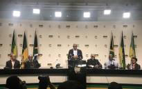 The ANC officially announced Job Mokgoro as North West premier candidate on Thursday 21 June 2018. Picture: Twitter/ @MYANC