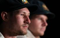 Australia's Cameron Bancroft was spoken to by the umpires regarding an object that television footage appeared to show him take out of his pocket before shining the ball. Picture: ICC Twitter