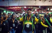 ANC members sing and dance at the ANC national policy conference. Picture: Thomas Holder/EWN