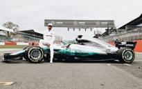 Lewis Hamilton with his new Mercedes. Picture: Twitter/@LewisHamilton.